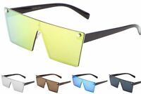 Wholesale 12 Pair Fashion One Piece Sunglasses with Rimless Frame - Assorted
