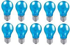 10 x Crompton 15W Harlequin Blue Bulb Round Standard ES-E27 Glass Bulb Fitting