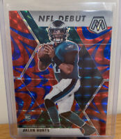 2020 Panini Mosaic NFL Debut Red Blue Reactive Prizm Jalen Hurts RC #265 Eagles