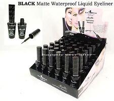 12 PCs Italia Deluxe Black Matte Waterproof Liquid Eyeliner- Full size 12 PCs