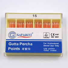 1 Box Size #15 Dental Gapadant Gutta Percha Points 120 Pcs/ Pack White