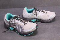SB132 Puma Axis Trail Tr Running Damen Sneaker Gr. 38,5 grau türkis Laufschuhe
