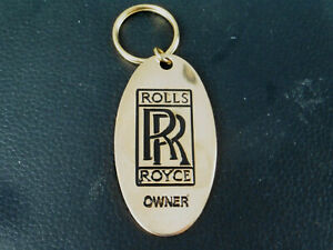 ROLLS ROYCE OWNER KEYRING - 22CT GOLD PLATED - BRITISH MADE