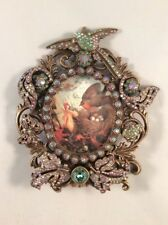 Kirks Folly NWOT Bird Butterfly Frog Floral Crystal Picture Frame