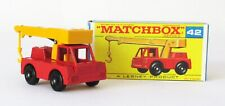 Vintage Lesney Matchbox 42 Iron Fairy Crane Regular Wheels NEAR MINT IN BOX 1969