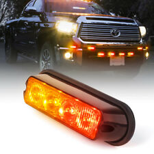 Super Bright 4W 4 LED Side Marker Light Emergency Grille Flash Strobe Red Amber