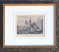 Antique Etching by C. Meyers Fulda Cathedral   c.1840