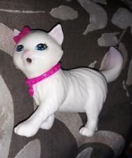 Barbie Blissa Dreamhouse Adventures Cat Drinking Peeing Kitty White Cat Rare Toy