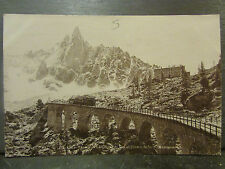 cpa photo 74 edition perrochet chamonix aiguille dru chemin fer montenvers train