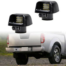 Xenon White LED License Plate Light For Nissan Frontier Suzuki Navara D40 Pickup