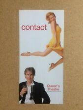 CONTACT / MICHAEL PRAED / LEIGH ZIMMERMAN Original Promotional Theatre Flyer