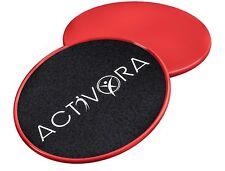 Sliders de ejercicio - Discos deslizantes rojos para alfombras y pisos duros