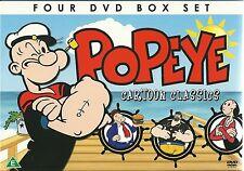 POPEYE THE SAILOR MAN (KIDS) CARTOON CLASSICS 4 DVD BOX SET TAXI TURVY & MORE