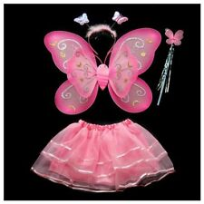 4Pcs Fairy Princess butterfly angel wings costume party dress birthday pres J9O9