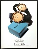 1989 The Tiffany Atlas 18 kt Gold Watch photo Tiffany & Co. vintage print ad