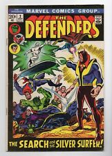 "MARVEL: THE DEFENDERS #2, ""THE SEARCH FOR THE SILVER SURFER"", 1972, VF+"