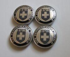 68mm Car Wheel Center HUB Cap Curve Badge EMBLEM Chrome/Black HRE Back clip 62mm