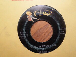 CUCA 45 RECORD 64121/CASUALS/ANGEL ON MY SHOULDER/COME ON/ VG MINUS