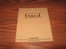 Unreal Command Card booklet for the Amiga