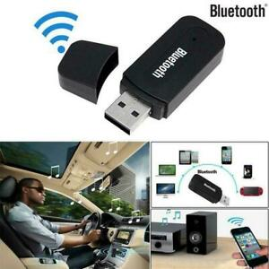 3.5mm to USB Bluetooth Receiver AUX Audio Stereo Music System Laptop Car W5D0