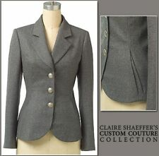 VOGUE CLAIRE SHAEFFER'S CUSTOM COUTURE MISS NOTCH COLLAR JACKET PATTERN SZ 6-10