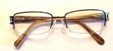 Perry Ellis Eyeglasses  Black Frame 53-18-140 Half Rim Metallic accents