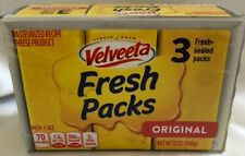 Velveeta Fresh Packs 3 Fresh Sealed Packs (1) Box  NET WT 12 OZ (340g)