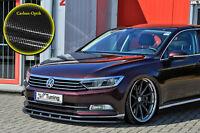 Spoilerschwert Frontspoiler Cuplippe aus ABS VW Passat 3G B8 ABE Carbon Optik