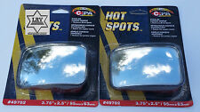 "RV, Trucks  Rectangle Wedge Blind Spot Mirror Wide Angle 2 PC  3.75"" x 2.5"""