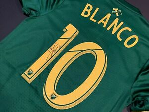 MLS Portland Timbers SEBASTIAN BLANCO Signed Authentic Soccer Jersey Argentina