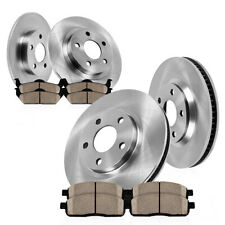 Front+Rear Brake Rotors & Ceramic Pads For Mazda 6 Ford Fusion MKZ Milan Zephyr