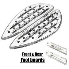 Chromed Driver Floorboards For harley Softail Slim FLS Deep edge cut passenger