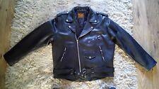 Mens Nappa Leather Brando Jacket Biker Classic Motorbike 1.9 thick