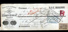 """COGNAC (16) ALCOOL / EAU DE VIE de COGNAC """"A. Edmond AUDRY & Co"""" en 1900"""