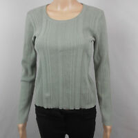 J Jill Women's Top Long Sleeve Sweater Shirt Knit Blue Gray Size XS