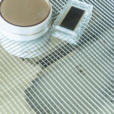 "10 pcs 12""x12"" Silver Mirror Mosaic Peel and Stick Tiles Wall Panels DIY Home"