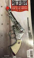 Metal Replica Revolver Pistol Toy Cap Gun Cowboy Western Repeater Die Cast