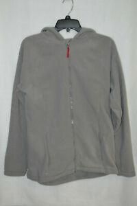 Lands' End Boy's T-200 Grey Wet Cement Full Zip Fleece Jacket - Size XL NWT