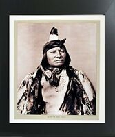 Rain in the Face Indian Chief Native American Contemporary Black Framed Picture