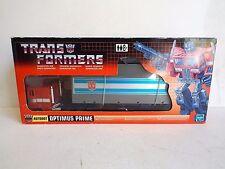 Hasbro 2002 réédition Transformers Optimus Prime tracteur remorque En parfait état, dans sa boîte (AM209)