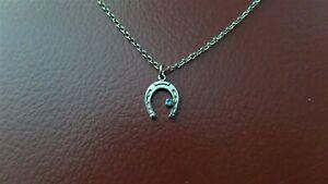 Horse Shoe Pendant Silver tone Necklace