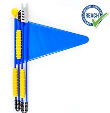 Fahrradwimpel, Sicherheitswimpel, Fahrradfahne fürs Kinderfahrrad, Farbe blau