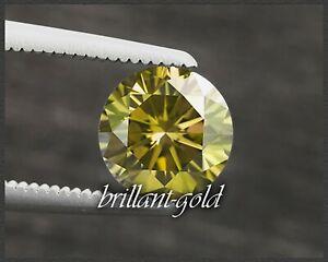 Diamant Brillant Farbe vivid yellow 1,7 mm, VS; echte Diamanten