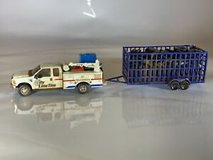 HO 1:87 Custom RPS Boley Tire Recycling Collector Service Truck and Trailer set