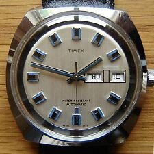 Vintage 1973 TImex Automatic Day Date Watch - British Made, Full Working Order