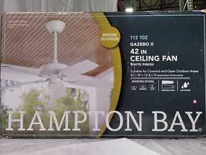 Hampton Bay Gazebo II 42 in. Indoor/Outdoor White Ceiling Fan
