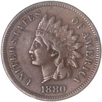 1880 Indian Head Cent Very Fine Penny VF Old Scratches See Pics G878