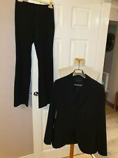 SUPERB LADIES DESIGNER MASSIMO DUTTI TWO PIECE BLACK SUIT SET RRP £179.99
