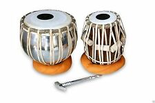 HANDMADE PROFESSIONAL TABLA DRUMS SET BRASS BAYAN SHESHAM WOOD DAYAN TABLA 0236