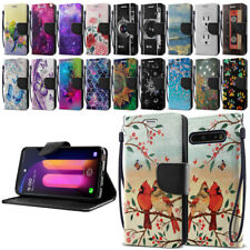 """For LG V60 ThinQ 6.8"""" Design ID Card Flip Wallet Kickstand Cover Pouch Case"""